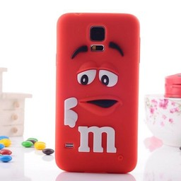 Samsung Galaxy S5 Siliconen hoesje M&M Rood