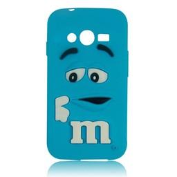 Samsung Galaxy Ace 4 LITE/ Trend 2 LITE siliconen hoesje M&M Blauw