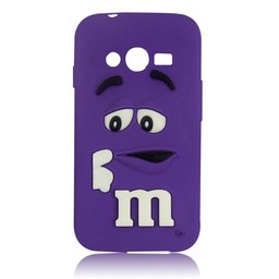 Samsung Galaxy Ace 4 LITE/ Trend 2 LITE siliconen hoesje M&M Paars