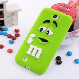 Samsung Galaxy Note 2 Siliconen hoesje M&M Groen