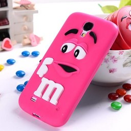 Samsung Galaxy S4 Siliconen hoesje M&M Donker Rose