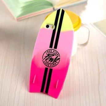 Iphone 4 (S) Siliconen hoesje PINK Summer Surfboard 1