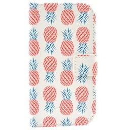 Samsung Galaxy Core Plus Wallet hoesjes Ananas