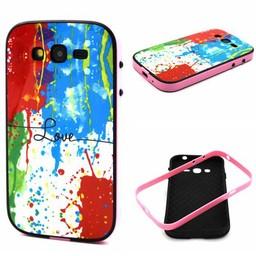 Samsung Galaxy Grand Neo/Grand Neo Plus Hard siliconen hoesje met gekleurde bumper Love