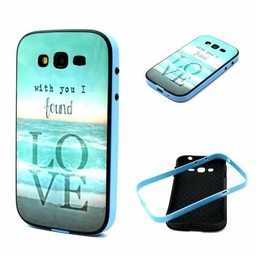 Samsung Galaxy Grand Neo/Grand Neo Plus Hard siliconen hoesje met gekleurde bumper Love 2