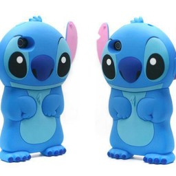 Iphone 4 (S) Siliconen hoesje Stitch Blauw
