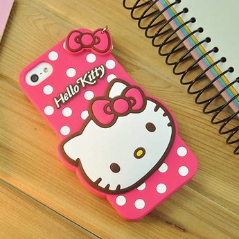 Iphone 4 (S) Siliconen hoesje Hello Kitty Rose