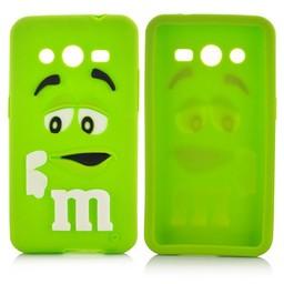 Samsung Galaxy Core 2 siliconen M&M hoesje groen