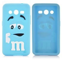 Samsung Galaxy Core 2 siliconen M&M hoesje Blauw