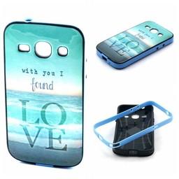 Samsung Galaxy Core Plus siliconen hoesje met gekleurde bumper Love