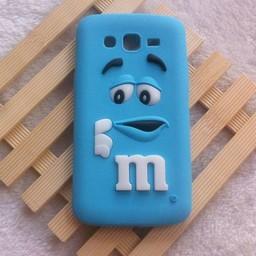 Samsung Galaxy Grand 2 siliconen hoesje M&M Blauw