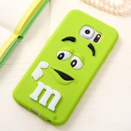 Samsung Galaxy S6 siliconen hoesje M&M Groen