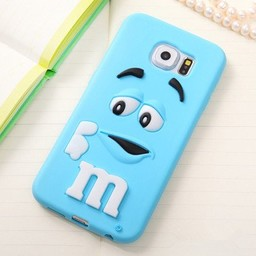 Samsung Galaxy S6 M&M Blauw