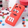 Iphone 4 (S) Siliconen hoesje M&M Rood