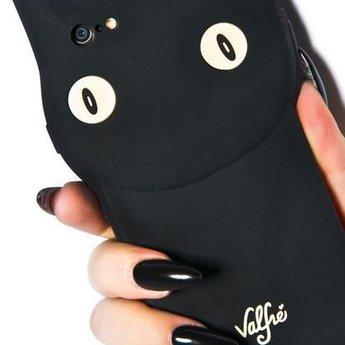 Iphone 5(s) en 5C Siliconen Black Cat Valfie hoesje