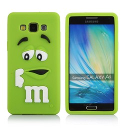 Samsung Galaxy A5 siliconen hoesje M&M Groen