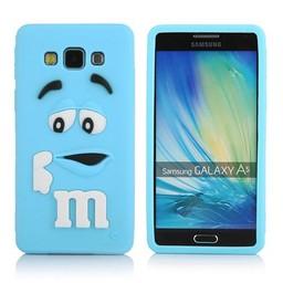 Samsung Galaxy A5 siliconen hoesje M&M Blauw