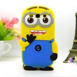 Samsung Galaxy A5 siliconen bescherm hoesje Minion Two Eyes Blauw