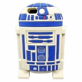 Iphone 5 (S) en 5C Siliconen hoesje Starwars R2-D2