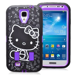 Samsung Galaxy S4 hoesje Hybride hard Case Hello Kitty