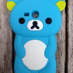 Samsung S3 Mini siliconen hoesje Rilakkuma Beer Blauw