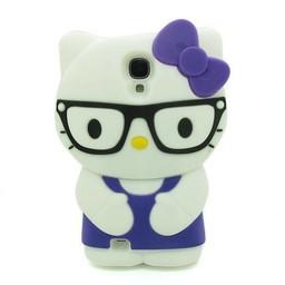 Samsung Galaxy S4 siliconen hoesje Hello Kitty Blauw