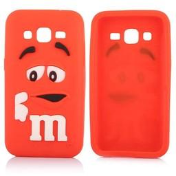 Samsung Galaxy Core Prime siliconen M&M hoesje Rood