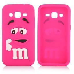 Samsung Galaxy Core Prime siliconen M&M hoesje Rose