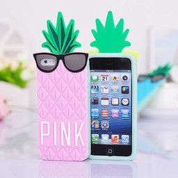 Iphone 4 (S) hoesje Ananas Rose