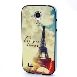 Samsung S4 mini siliconen hoesje met gekleurde bumper Paris