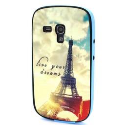 Samsung S3 mini siliconen hoesje met gekleurde bumper Paris