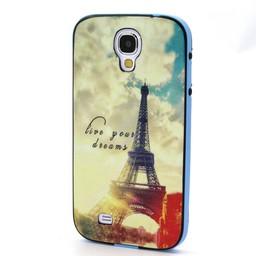 Samsung S4 TPU Siliconen Hybride hoesje met gekleurde bumper Paris
