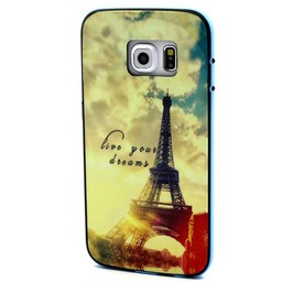 Samsung S6 Eiffeltoren met gekleurde bumper Paris