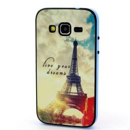 Samsung Galaxy Core Prime TPU Siliconen Hybride hoesje met gekleurde bumper Paris