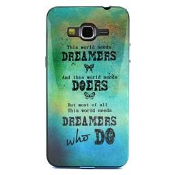 Samsung Galaxy Grand Prime Hard siliconen hoesje met gekleurde bumper Dreamers