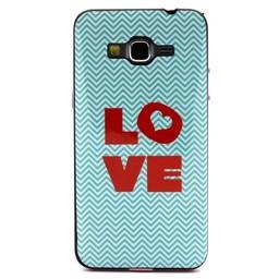 Samsung Galaxy Grand Prime Hard siliconen hoesje met gekleurde bumper Love