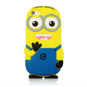 Iphone 4 (S) hoesje Minion 2 Eyes Blauw