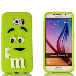 Samsung S6 Edge Siliconen M&M hoesje Groen