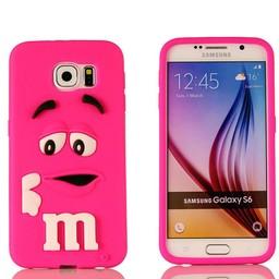 Samsung S6 Edge Siliconen M&M hoesje Rose