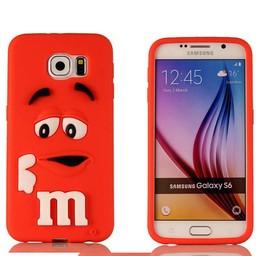 Samsung S6 Edge Siliconen M&M hoesje Rood