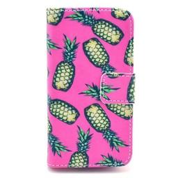 Samsung Galaxy S5 mini PU lederen Wallet hoesje Ananas