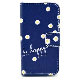Samsung Galaxy S5 mini PU lederen Wallet hoesje Be Happy