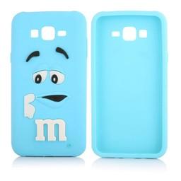 Samsung Galaxy J1 Siliconen hoesje M&M Blauw