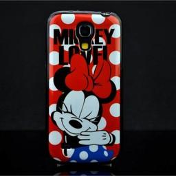 Samsung S4 mini siliconen hoesje Minnie Mouse
