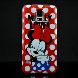 Samsung S5 mini siliconen hoesje Minnie Mouse
