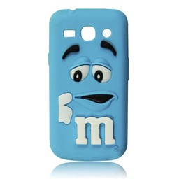 Samsung Galaxy Core Plus siliconen M&M hoesje Blauw