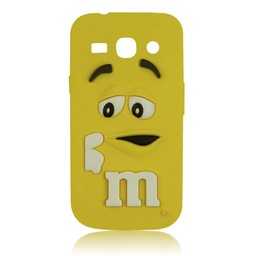 Samsung Galaxy Core Plus siliconen M&M hoesje Geel