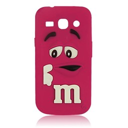 Samsung Galaxy Core Plus siliconen M&M hoesje Rose