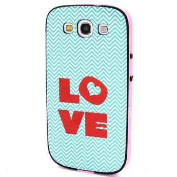 Samsung S3 TPU Siliconen  hoesje met gekleurde bumper Love