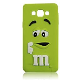 Samsung Galaxy A3 siliconen hoesje M&M Groen